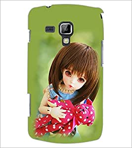 PrintDhaba Beautiful Doll D-1073 Back Case Cover for SAMSUNG GALAXY S DUOS S7562 (Multi-Coloured)