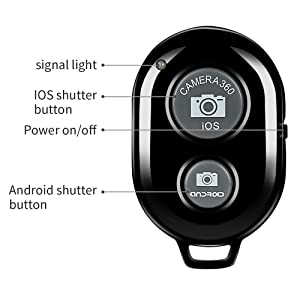 Bluetooth Camera Remote Shutter Smartphones Wireless Camera Remote Control Compatible X 8 7 Samsung S9 S9+ HTC Huawei Honor Xiaomi- - Create Amazing Photos Selfies (Color: BT-Remote, Tamaño: Remote Shutter)