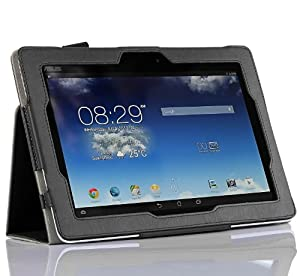 Acer Iconia Tab 10 A3-A30 10.1-Inch Case - IVSO Slim-Book Stand Cover Case for Acer Iconia Tab 10 A3-A30 Tablet (Black)