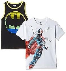 Kidsville Boys' T-Shirt (BM1KB09_Multicolor_11 - 12 years)(COMBO T-shirt's-2)