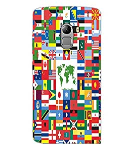 PrintDhaba Flags D-5505 Back Case Cover for LENOVO VIBE X3 c78 (Multi-Coloured)