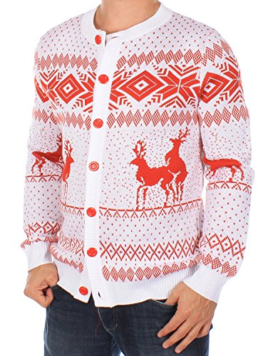 Ugly Christmas Sweater - Reindeer Double Date Cardigan by Tipsy Elves