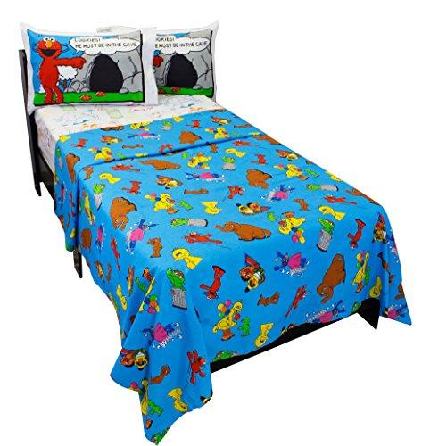 4pc-sesame-street-full-bed-sheet-set-elmo-cookie-monster-comic-stip-bedding-accessories-by-sesame-st