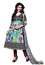 Pruthu Anarkali Dress Material, Cotton, Printed, Unstitched (pa_004_Multi-Color_Free Size)