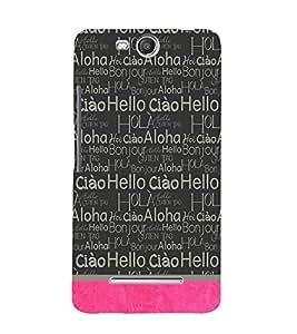 Hello Ciao Design Cute Fashion 3D Hard Polycarbonate Designer Back Case Cover for Micromax Bolt Q338