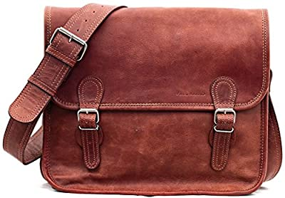 LA SACOCHE (M) Cuir Vintage couleur naturel format (A4) Retro sacoche PC PAUL MARIUS