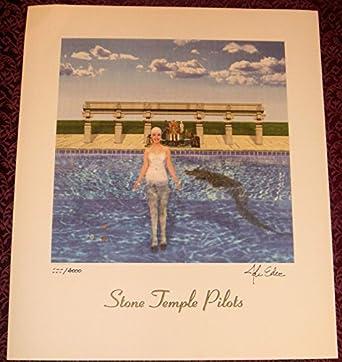 stone temple pilots stp tiny music litho signed lp album cover art lithograph at amazon 39 s. Black Bedroom Furniture Sets. Home Design Ideas