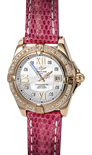 Breitling 18K Rose Gold Ladies Starliner Diamond Bezel and MOP Dial. New!