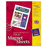 Avery Consumer Products Products - Magnet Sheets, Printable, Inkjet, 8-1/2&quot;x11&quot;, 5/BX, White - Sold as 1 PK - Create personalized magnetic business cards, logos and more. They stick to most metal surfaces and are matte-coated to create rich colors and vibrant photo reproduction. Get great results that are easy to create. Print one or multiple designs on blank sheets and then cut out with scissors or trim out with paper trimmer. Magnet sheets feed easily through most inkjet printers.