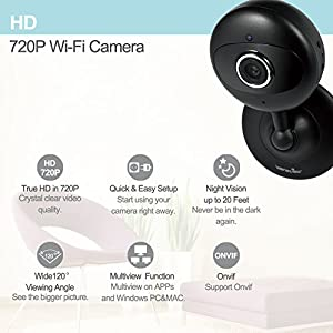 Wansview IP Camera, 720P WiFi Wireless Security Camera for Baby