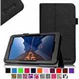 """Fintie Folio Premium Vegan Leather Case Stand Cover for Upgraded Time2 7 Inch Android Tablet 2015, Time2Touch GC750C 7"""" Quadcore Android Lollipop Tablet, Time2Touch SC744B 7"""" Dual Core Android Kitkat Tablet, BTC Flame 7 Inch UK ATM7059 A9 Android Tablet, 2015 SATUS 7 Inch Android Tablet, Trimeo 7 Inch Windows 8.1 Tablet, LENOTAB 7 Inch Windows Tablet - Black"""