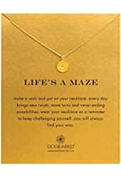 "Dogeared ""Life's A Maze"" Necklace, Gold Dipped"