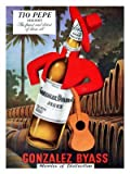Tio Pepe, Sherry, Drinks Advert, 1950s (30x40cm Art Print)