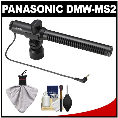 Panasonic Dmw-Ms2 Directional And Stereo Microphone With Kit For Lumix Dmc-G6 & Gh3 Digital Cameras