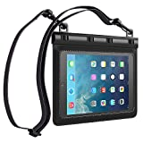 Ultraproof Waterproof Case for iPad Mini / iPad Mini Retina – [Black] Universal UltraBag Waterproof Pouch with Touch Responsive Front and Back Transparent Screen Protector Windows [One Year Warranty] Fits Any Version of Apple iPad Mini / iPad Mini with Retina Display (A.K.A IPX8 Certified Premium Protective Smartphone Life Waterproof Pouch / Credit Card Waterproof Bag Case Cover)