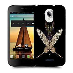 Snoogg White Feather Designer Protective Back Case Cover For MICROMAX A117