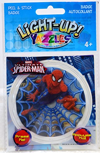 Yazzles Light-Up Badge Spiderman - Peel & Stick