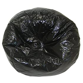 Comfort Research 88 Beanbag, Black Vinyl