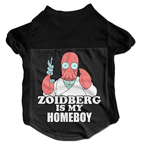 [Nubia Futurama Zoidberg Pets Tshirt For Small Doggie Black L] (Futurama Leela Costumes)