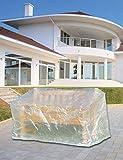 Schutzhülle Abdeckung für Bank 3er Gartenbank 160cm transparent