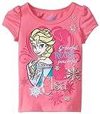 Disney Little Girls' Elsa Short-Sleeve Shirt