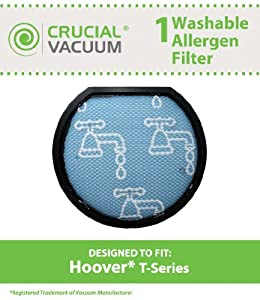 Hoover Windtunnel T-Series Rewind Long Life Washable & Reusable Pre-Filter; Replaces Hoover Part # 303173001, 303172002,  902404001; Designed & Engineered by Crucial Vacuum