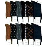 12 Pairs Men Dress Socks Multi Color Shoe Size 1013 Fashion Casual Wholesale Lot thumbnail