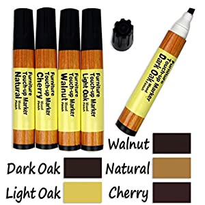 5-Color Wood Floor Furniture & Woodwork Scratch Cover Touch-Up Pens
