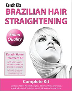 Brazilian Keratin Treatment - Home Hair Straightening Kit 100ml (COMPLETE KIT)