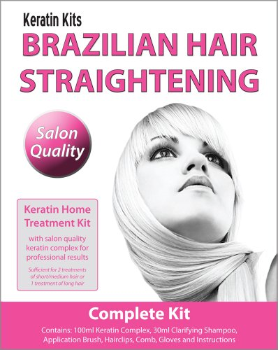 Brazilian Hair Straightening / Blow-Dry Home Keratin Treatment 100ml (COMPLETE KIT)