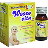 Wesco Vita Drops Multivitamin Drops With DHA For Baby & Children 30 Ml - Pack Of 4