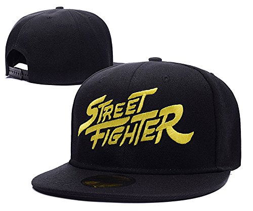 yuduoduo-street-fighter-sf-logo-adjustable-snapback-embroidery-hats-caps-black