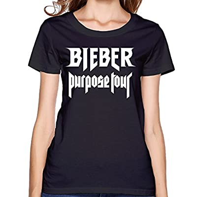 LEONA Justin Bieber Purpose Tour T-shirts For Women Black