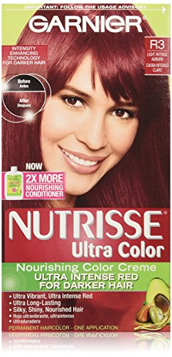 Garnier Nutrisse Ultra Color Nourishing Color Creme, R3 Light Intense Auburn