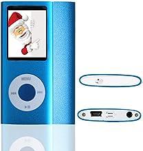 L.D Generation Lecteur MP3/MP4 16GB Mince Avec 1,8 Pouces TFT écran 16Go bleu, interface Mini-USB, vidéo, musique, jeux et films, photos Parcourir, E-book Reader