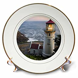 3dRose cp_94104_1 Haceta Head Lighthouse, Oregon, USA-Us38 Rkl0018-Raymond Klass-Porcelain Plate, 8-Inch