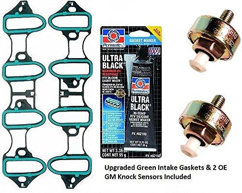 GM TSB #02-06-04-023A/P0332 Repair Kit w/Intake Manifold Gasket 2 Knock Sensors (2002 Tahoe Intake Manifold Gasket compare prices)
