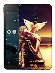 """Humor Gang Calm Buddha Scenery Printed Designer Mobile Back Cover For """"Asus Zenfone 6"""" (3D, Matte, Premium Quality Snap On Case)"""