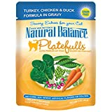 Natural Balance Platefulls Turkey, Chicken & Duck Formula in Gravy Cat Food, 3-Ounce Pouch (Pack of 24)