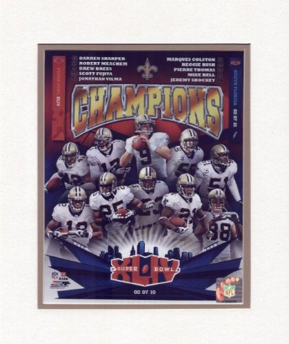 "New Orleans Saints Super Bowl XLIV Champions 8"" x 10"" Collage Matted Photo at Amazon.com"