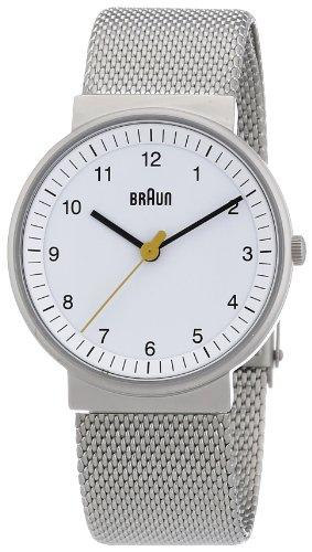 Braun Women'S Bn0031Whslmhl Classic Mesh Analog Display Quartz Silver Watch
