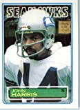 1983 Topps # 386 John Harris Seattle Seahawks Football Card