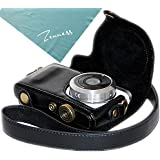 Zenness Ever Ready Protective Leather Camera Case Bag for Samsung NX Mini 9mm Lens (Black)