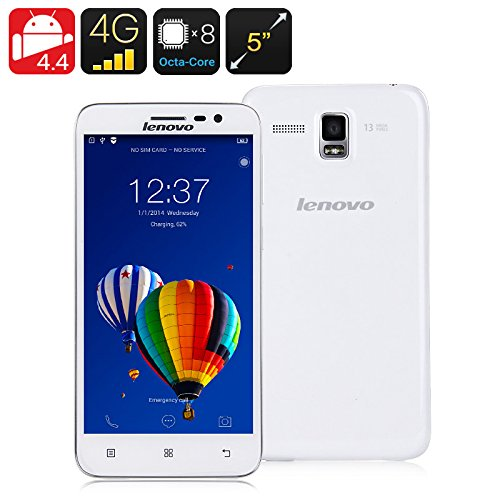Lenovo-A8-A806-or-Guerrier-4G-LTE-Android-44-KitKat-Octa-base-17GHz-50-pouces-HD-130MP-unique-Sim-Smartphone-blanc