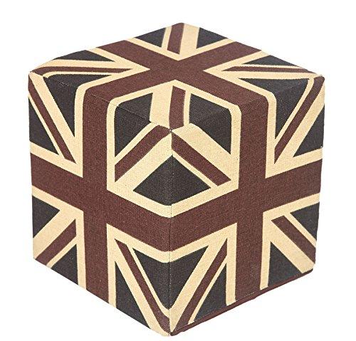 Homescapes-Design-Sitzwrfel-Fuhocker-Union-Jack-blau-rot-Britische-Flagge