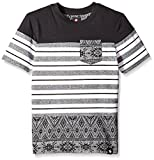 Southpole Big Boys' Short Sleeve Marled Cut and Sewn Tee with All Over Prints