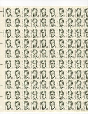 Thomas H. Gallauder Sheet of 100 x 20 Cent US Postage Stamps NEW Scot 1861
