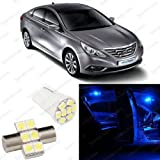 Splendid Autos Ultra Blue LED Sonata Interior Package Deal 2011 and Up (4 Pieces)