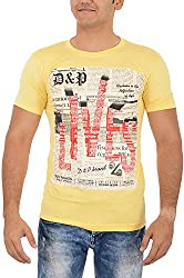 TUNE FASHION Men's Cotton T-Shirt_Yellow_M