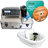 FB401E Ionic Detox Foot Bath System with Infrared, Tub Basin, Liners, Arrays and Cleaning Supplies +